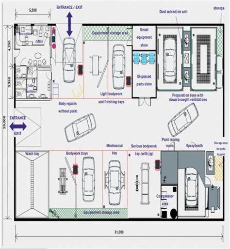 body shop floor plans paint shop layout blueprint bing images
