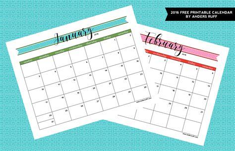 free custom calendar template ruff draft 2016 free printable calendar anders ruff