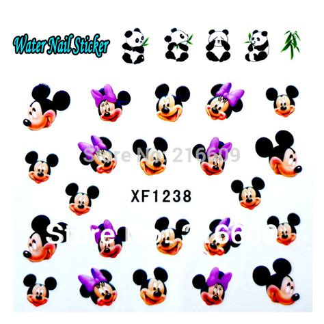 Nail Sticker Mickey free shipping 20sets lot nails wrap water transfers