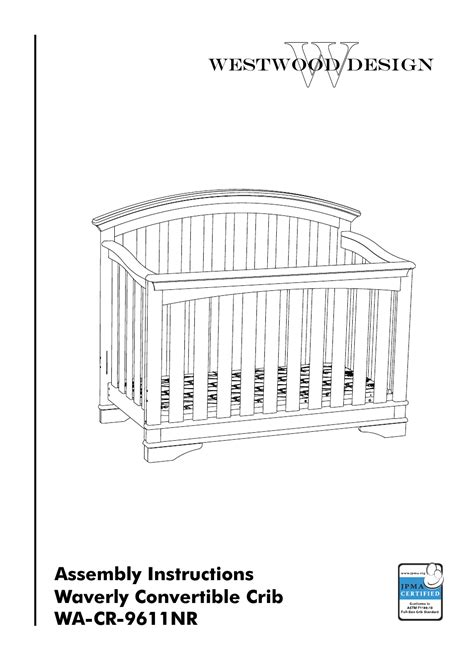 Westwood Design Waverly Convertible Crib by Westwood Design Waverly Convertible Crib Wa Cr 9611nr