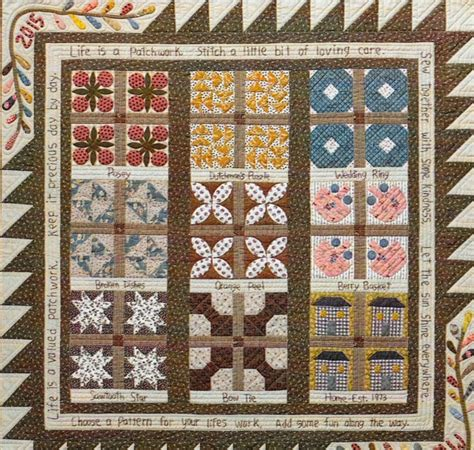 Patchwork Wall Hanging Patterns - quilt pattern is a patchwork pieced and appliqued