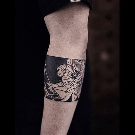 tattoo flower band 100 dark black tattoo design ideas to think about