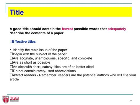 How To Make A Title For A Research Paper - how to write great research papers