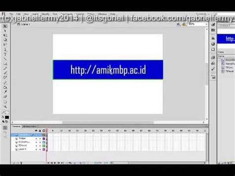 youtube membuat animasi flash membuat animasi rolling banner dengan adobe flash cs6