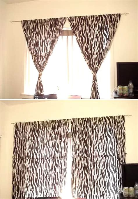 curtains with holes how to hang curtains without making holes in the wall