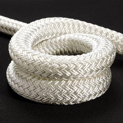 Tali Polyester Rope 12mm rope braid 12mm solid white per meter bosuns locker