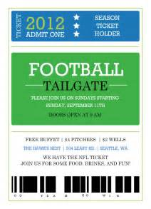 Football Ticket Invitation Template by Printable Ticket Invitation Template