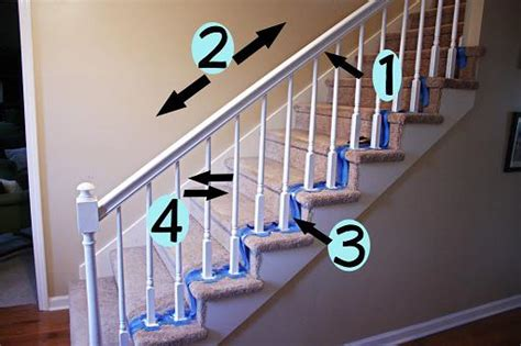 How To Paint A Stair Banister by How To Paint Stairway Railings Diy Painting Diy Cozy Home