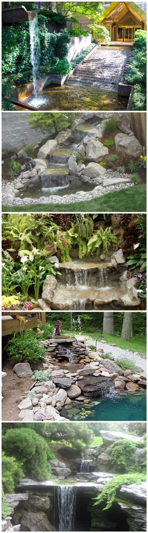 building a backyard waterfall how to build a garden waterfall pond diy tag