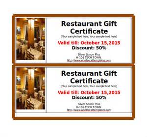 Dinner Certificate Template Free by 14 Restaurant Gift Certificate Templates Free Sle