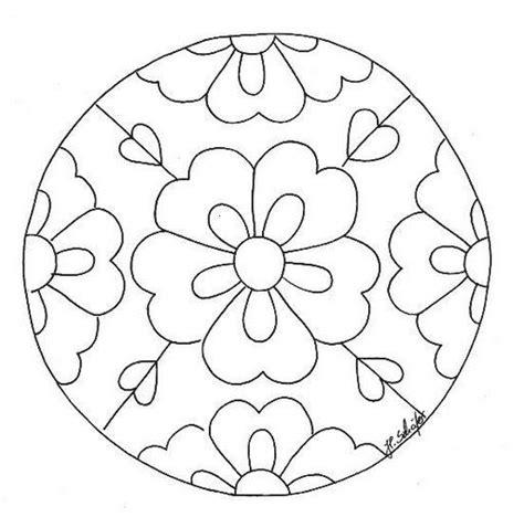 flower mosaic coloring page mandalas para pintar mandalas de flores r 243 żne