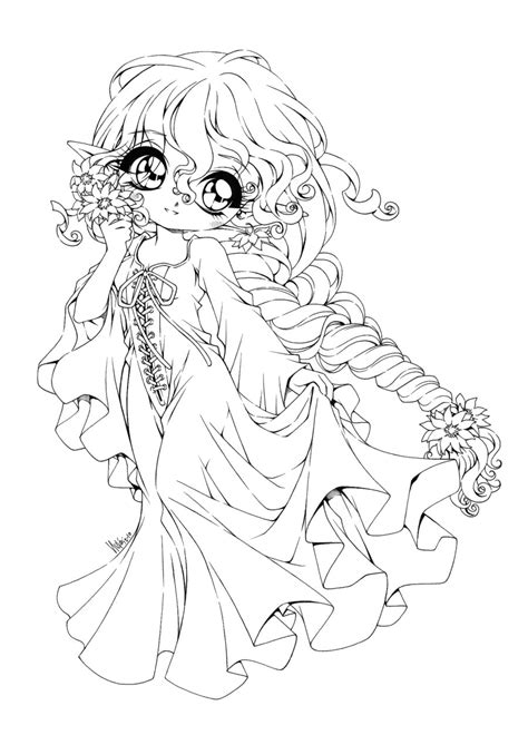 princess hat coloring pages anime chibi coloring pages for womanmate