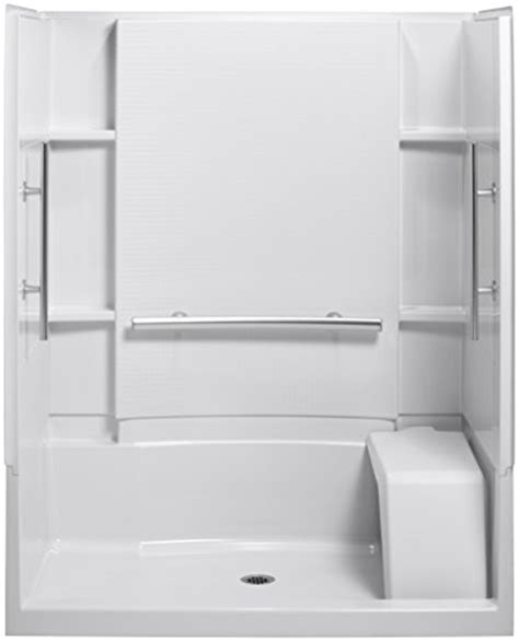 Hyll Plumbing sterling plumbing 72290103 v 0 accord 36 inch x 60 inch x 74 1 2 inch shower kit with seat and