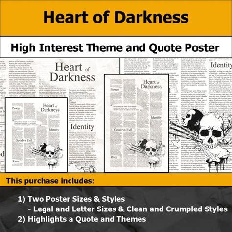 heart of darkness themes and quotes visual theme quote posters