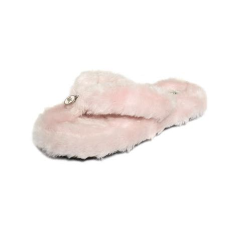 michael kors house shoes michael kors thong slippers in pink lyst