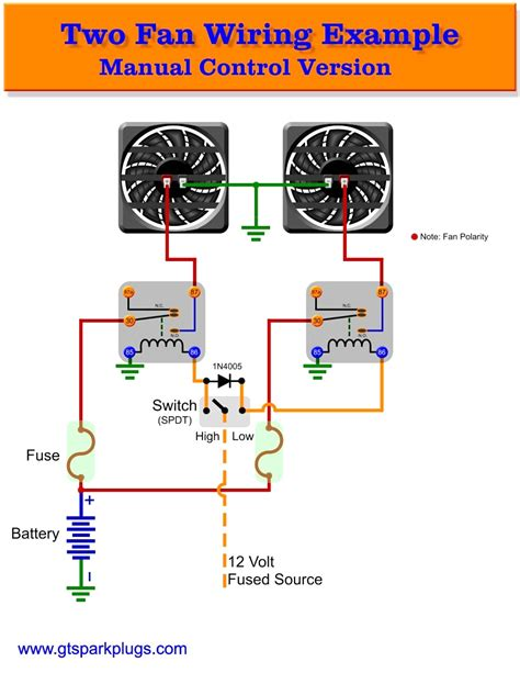 dual radiator fan wiring diagram electrical relay wiring