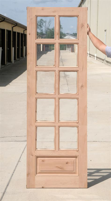Interior Clearance Knotty Alder 8 Lite French Doors Pre Stained Interior Doors