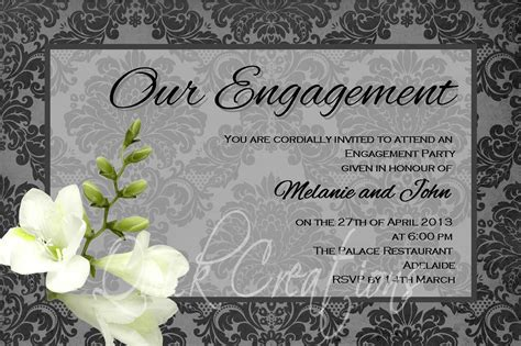 Invitation Card Template For Engagement by Engagement Invitation Cards Engagement Invitation Cards