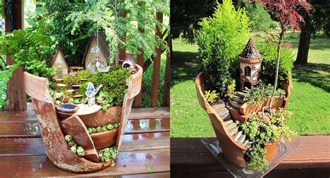 objetos para decorar jardines ideas para decorar el jard 237 n con objetos rotos
