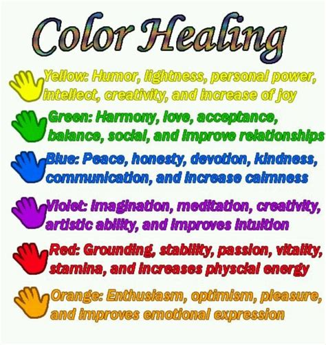healing colors color healing spiritual light pinterest