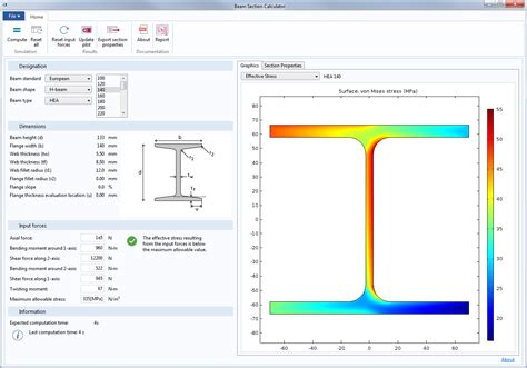 cross section calculator structural mechanics module comsol 5 2 release highlights