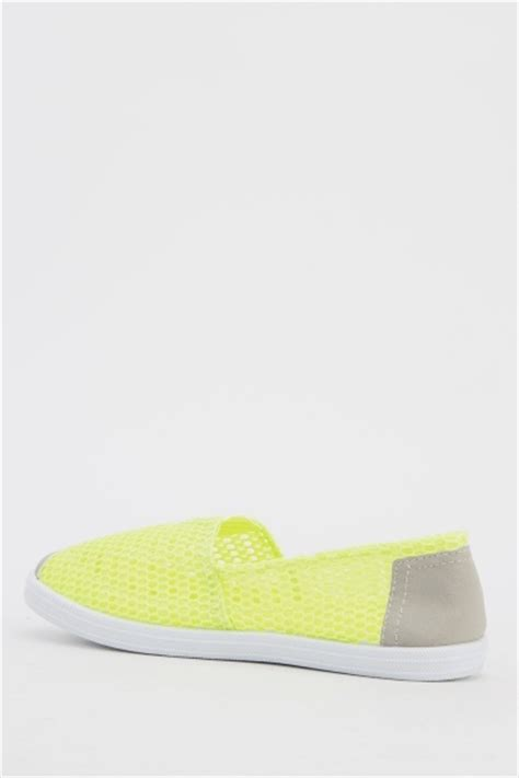 Perforated Slip Ons perforated slip ons green just 163 5