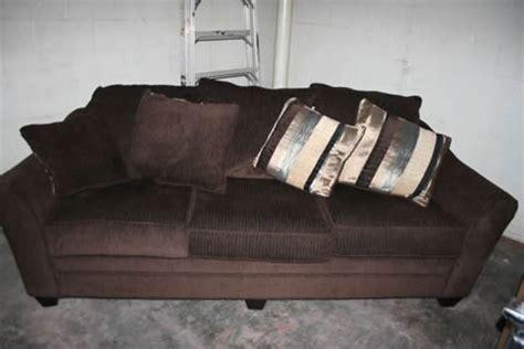 sofa government godiva sofa chocolate colored too government auctions