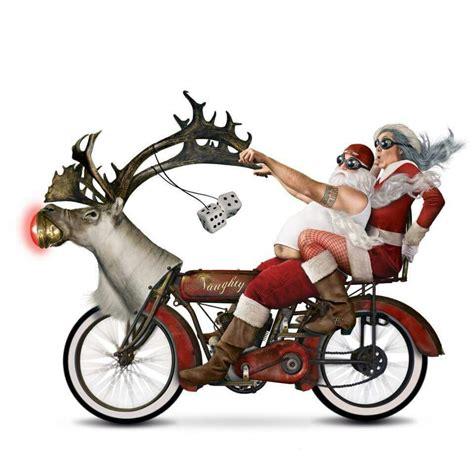 weird santa motorcycle ho ho ho pinterest santa