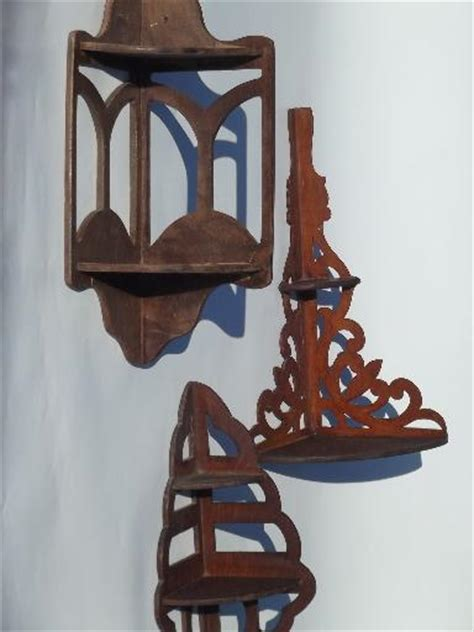 Whatnot Shelf by Antique Wood Fretwork Whatnot Shelves Vintage Corner Wall