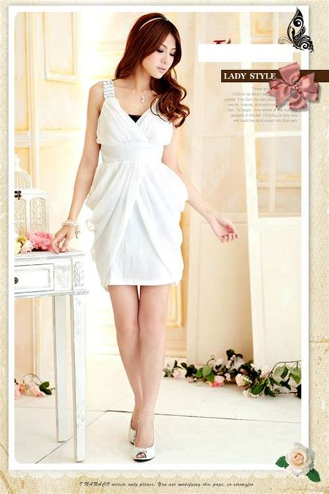 Mini Dress Import Baju Pesta mini dress pesta wanita putih cantik model terbaru