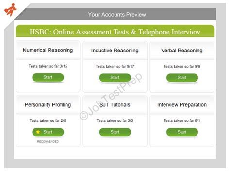 hsbc assessment tests telephone prep