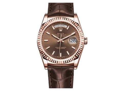 U Boat Ifo Brown Gold rolex day date president brown 18krg 36mm brown