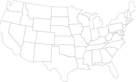america map transparent map usa united states america png image picpng