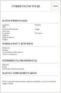 sle curriculum vitae formato vacio documentos de una oficina curriculum vitae