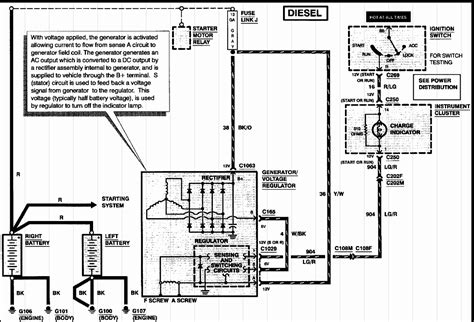 alternator charging system wiring diagram car alternator