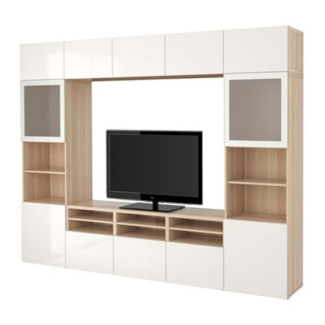 ikea besta tv storage best 197 tv storage combination glass doors white stained
