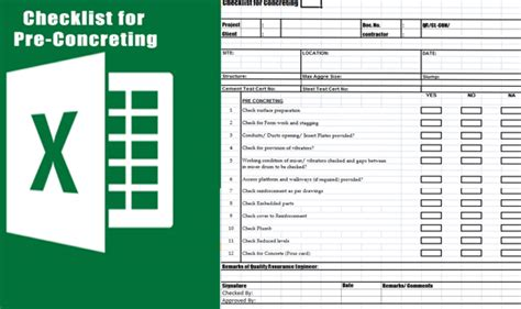 concrete pour card template concrete pre pour checklist concrete placement checklist