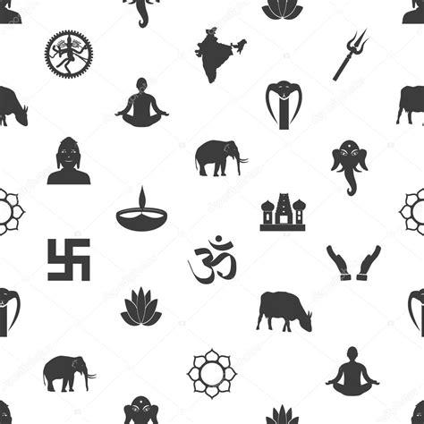 imagenes simbolos hindues hinduismen religioner symboler gr 229 seamless m 246 nster eps10