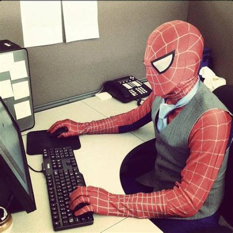 Spiderman Office Meme - spiderman meh ro