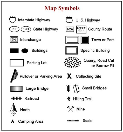 us highway map symbols map symbols