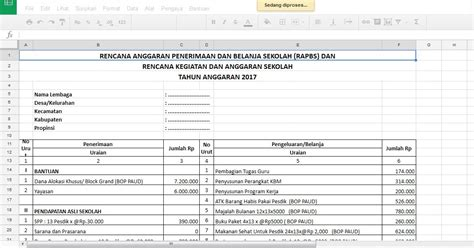 format laporan bop paud 2017 aplikasi rapbs dan rkas paud sesuai juknis bop 2017 sang