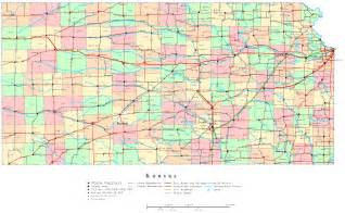 State Map Of Kansas by Kansas Printable Map