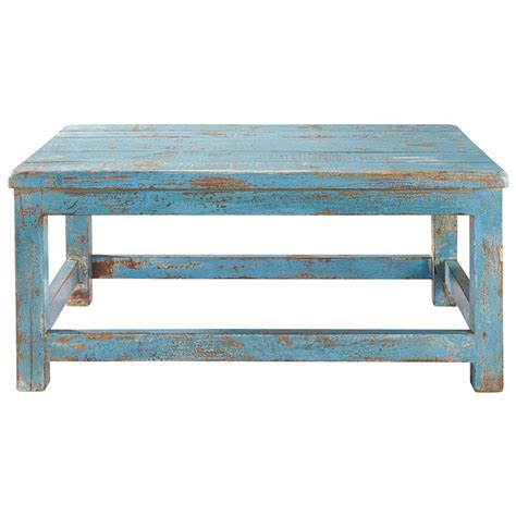 table basse bleue avignon maisons du monde