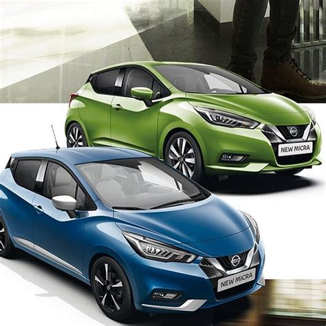 colours of 2017 2017 nissan micra shown in blue and green body colours