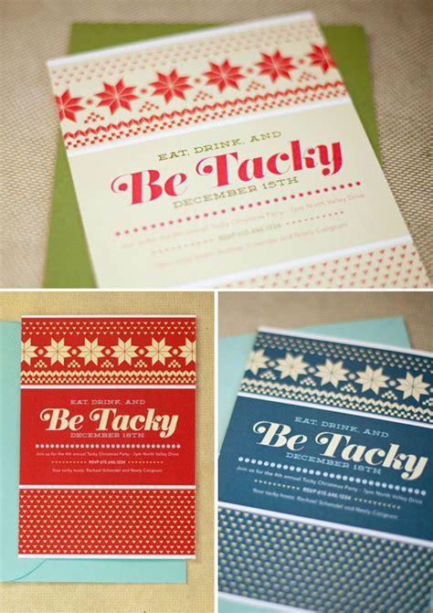 tacky christmas sweater party invites invitation crush