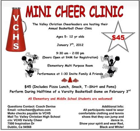 Image From Http Vcsathletics Com Docs 2011 Minicheers Gif Mini Cheer C Fundraiser Cheerleading Flyer Template