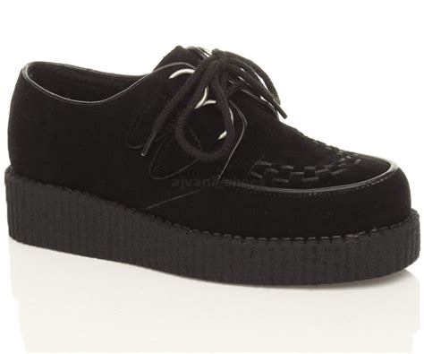 boys unisex childrens platform lace up creepers