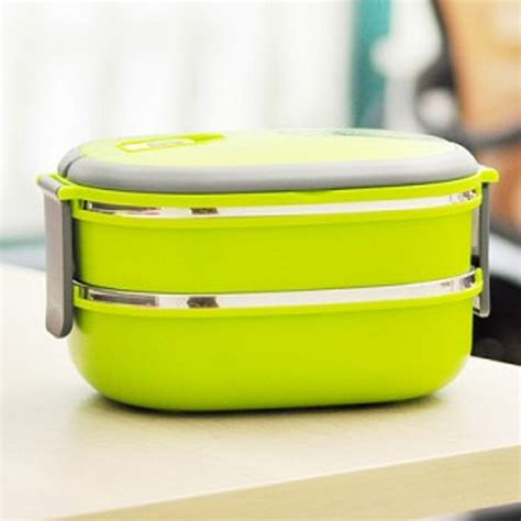 Stenlis Lunch Box Thermo Tunggal layers bento lunch box square stainless steel bento box with handle thermos for food