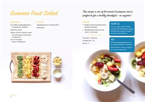 cookbook layout blair howard