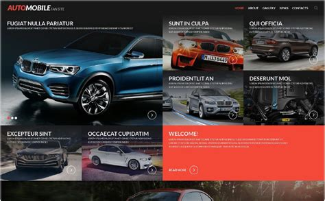 best site to rent cars 40 best car html website templates 2018 for dealership